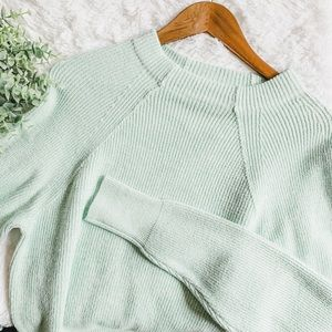 Free People | Opaline Green Sweater NWT Size S